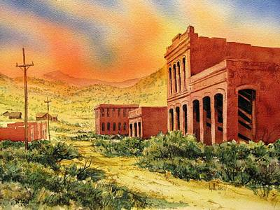 Aurora Ghost Town Nevada Art Print by Kevin Heaney