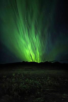 Alaska Photograph - Aurora Rush by Ed Boudreau
