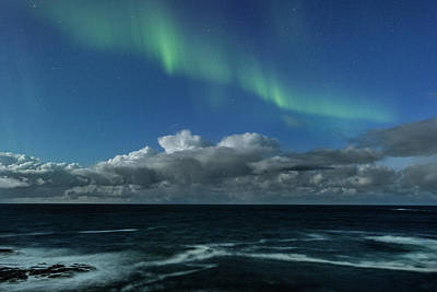 Photograph - Auroras And Clouds by Frank Olsen