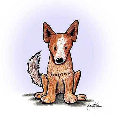 Cattledog Drawing - Aussie Cattledog by Kim Niles