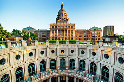 Photograph - Austin Texas Usa State Capitol - Color Edition by Gregory Ballos