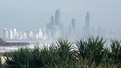 Photograph - Australia - Surf Mist Shrouds Our View by Jeffrey Shaw