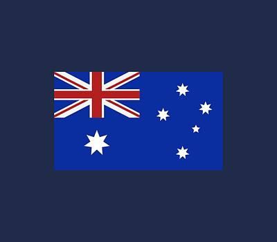 Illustration Digital Art - Australia Flag by Marco Livolsi
