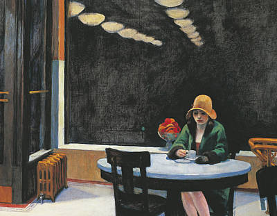 Diners Painting - Automat by Edward Hopper