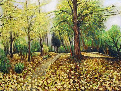 Autumn Alley Art Print by Vladimir Kezerashvili