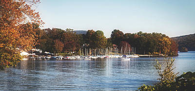 Photograph - Autumn Along Lake Candlewood - Connecticut by Library Of Congress