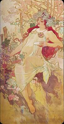 Painting - Autumn by Alphonse Mucha