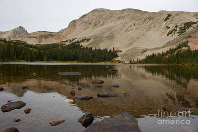 Steven Krull Royalty-Free and Rights-Managed Images - Autumn at Brainard Lake and the Indian Peaks by Steven Krull