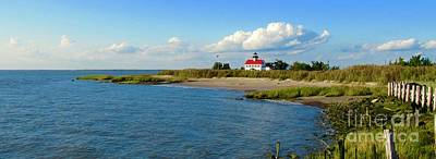 Photograph - Autumn At East Point Lighthouse by Nancy Patterson