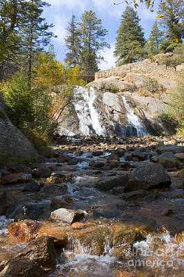 Steve Krull Royalty-Free and Rights-Managed Images - Autumn at Helen Hunt Falls Colorado by Steve Krull