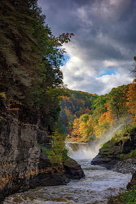 Autumn At The Lower Falls II Art Print by Rick Berk