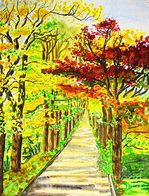 Painting - Autumn Avenue by Irina Afonskaya