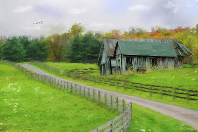 Photograph - Autumn Barn by Mary Timman