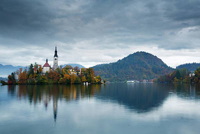 Photograph - Autumn Colours At Lake Bled by Ian Middleton