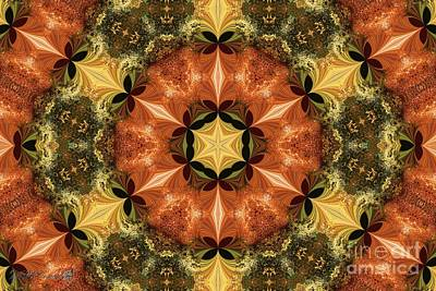 Digital Art - Autumn Colours Kaleidoscope by J McCombie