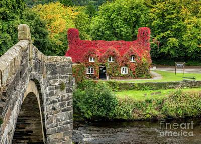 Llanrwst Digital Art - Autumn Cottage by Adrian Evans