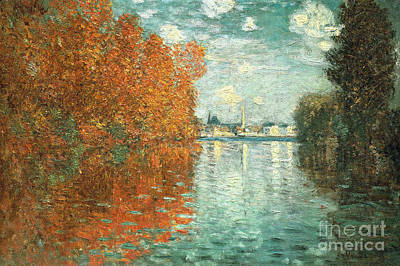 Urban Abstracts Royalty Free Images - Autumn Effect at Argenteuil by Claude Monet Royalty-Free Image by Claude Monet