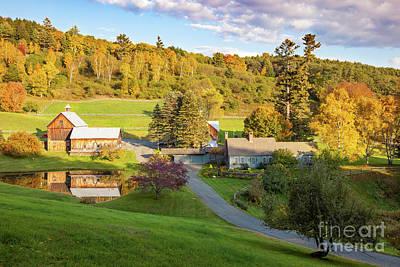 Photograph - Autumn Farm In Vermont by Brian Jannsen
