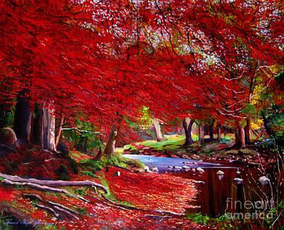 Autumn Fire Art Print by David Lloyd Glover