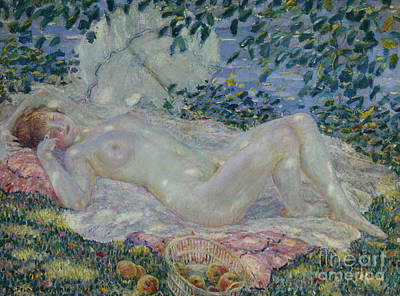 Out Baskets Painting - Autumn by Frederick Carl Frieseke
