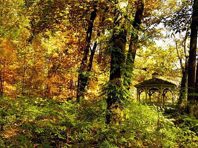 Autumn Gazebo Art Print