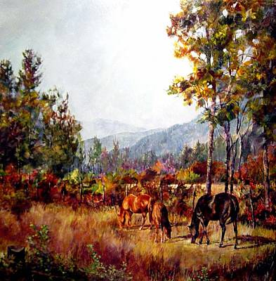 Autumn Grazing Art Print
