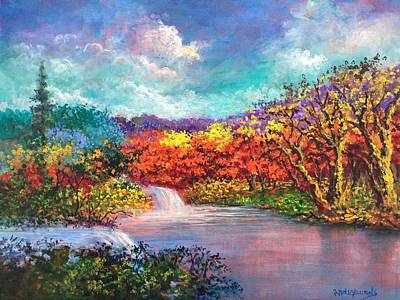 Painting - Autumn In The Garden Of Eden by Randol Burns