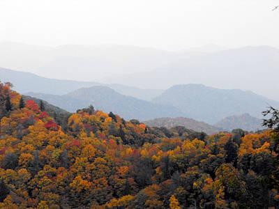 Autumn In The Smokie Mountains Art Print by Eva Thomas