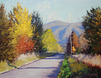 Golden Sunlight Painting - Autumn In Tumut by Graham Gercken
