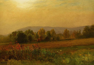 Autumn Landscape Art Print by Albert Bierstadt