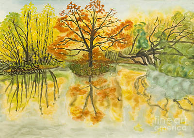 Painting - Autumn Landscape, Painting by Irina Afonskaya