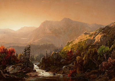 William Sonntag Painting - Autumn Landscape by William Louis Sonntag