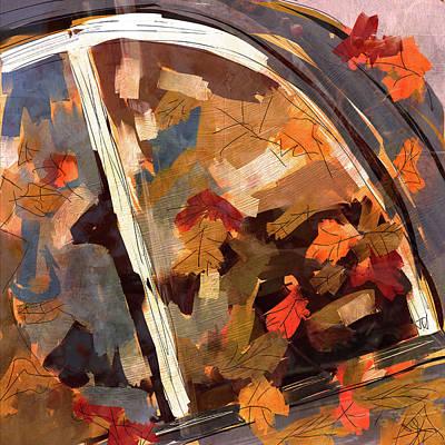 Digital Art - Autumn Leaves by Jim Vance