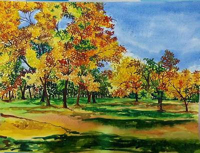 Painting - Autumn by Lupamudra Dutta