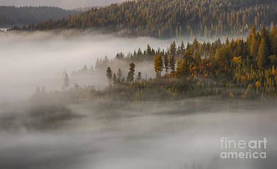 Photograph - Autumn Mists by Idaho Scenic Images Linda Lantzy