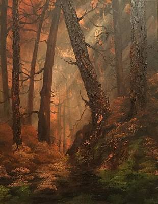Painting - Autumn On Cannock Chase by Jean Walker