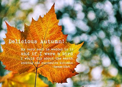 Photograph - Autumn Painting Quote by JAMART Photography