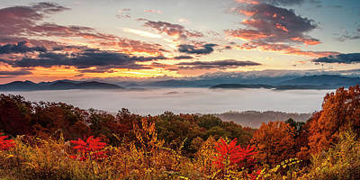 Photograph - Autumn Panorama by Andrew Soundarajan