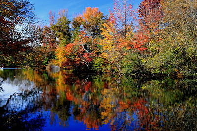 Autumn Pond Art Print by Gary Bydlo