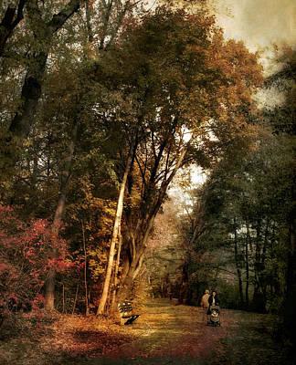 Autumn Promenade Art Print