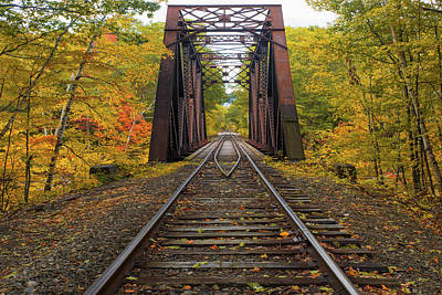 Photograph - Autumn Railroad by Chris Whiton