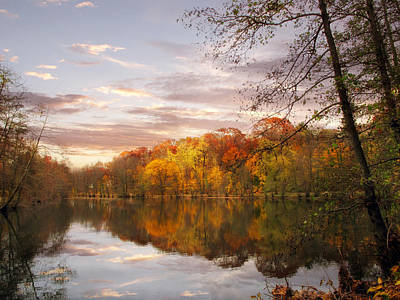 Autumn Pond Photograph - Autumn Reflected by Jessica Jenney
