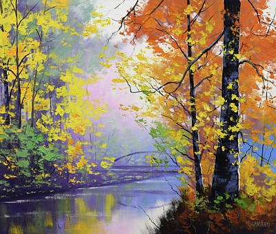 Paintings - Autumn reflections by Graham Gercken