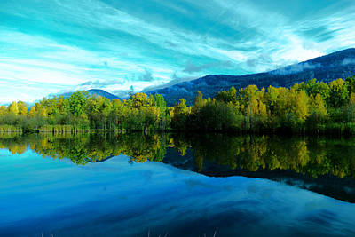 Autumn Reflections Art Print by Jeff Swan