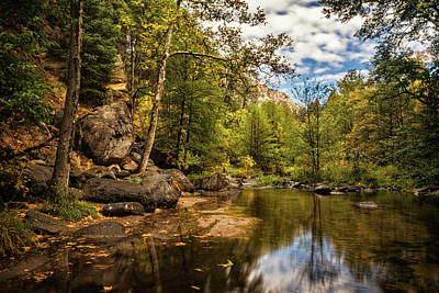 Photograph - Autumn Creek Reflections  by Saija Lehtonen