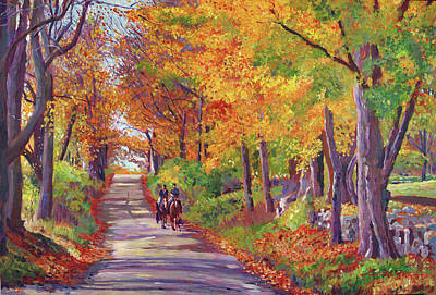 Painting -  Autumn Ride by David Lloyd Glover