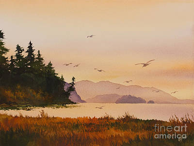 Art Print featuring the painting Autumn Shore by James Williamson
