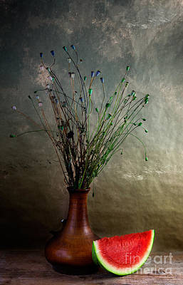Table Photograph - Autumn Still Life by Nailia Schwarz