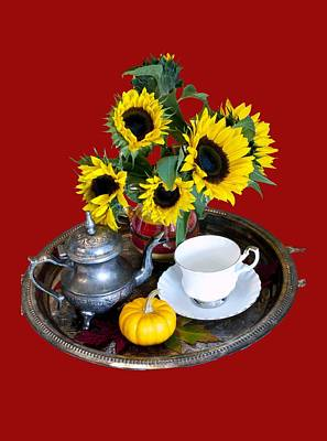 Photograph - Autumn Tea Service by Rae Tucker