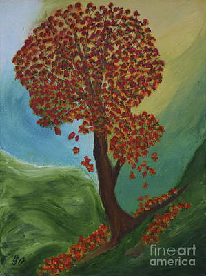 Painting - Autumn Tree  by Christiane Schulze Art And Photography